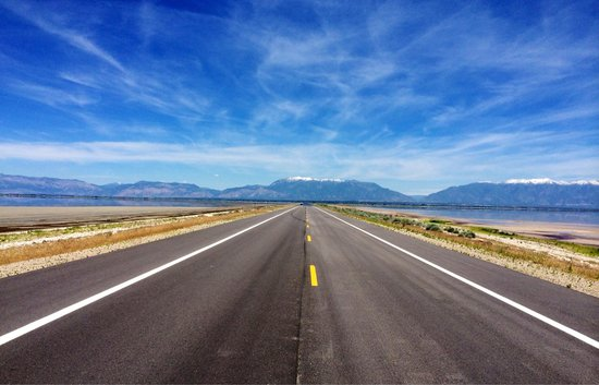Antelope Island State Park : Causeway to Antelope Island