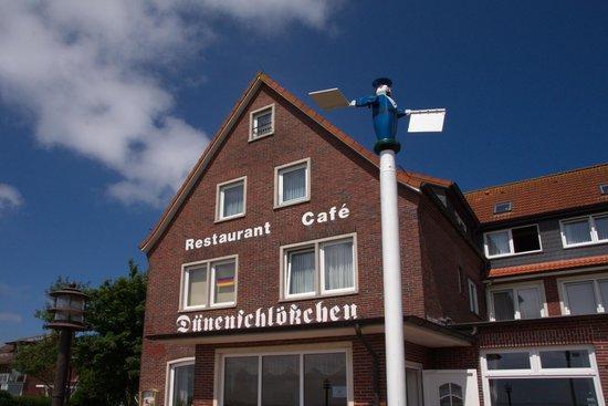 Baltrum, Tyskland: Ansicht Südseite (vom Wattmeer)