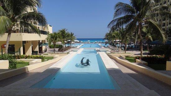 The Royal Sands: インフィニティプールからカリブ海の眺め