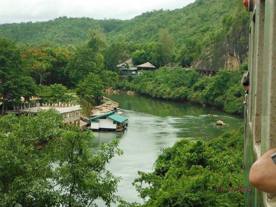 Thai-Burma Railway (Death Railway): A section of the Viaduct along the river.