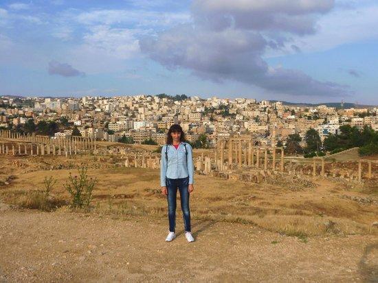 Ruinas de Jerash: Я в городе Джераш