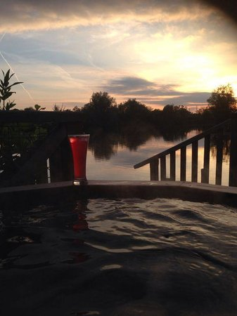 Log House Holidays: Our view from our hot tub