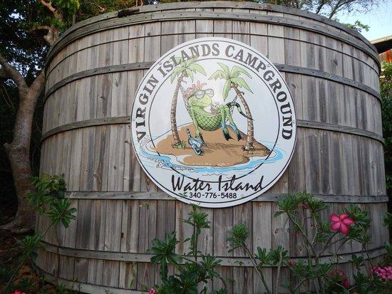 Virgin Islands Campground : water storage