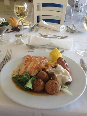Hotel Club Bahamas Ibiza : Fresh grilled salmon from the a la carte Restaurant (among other things)