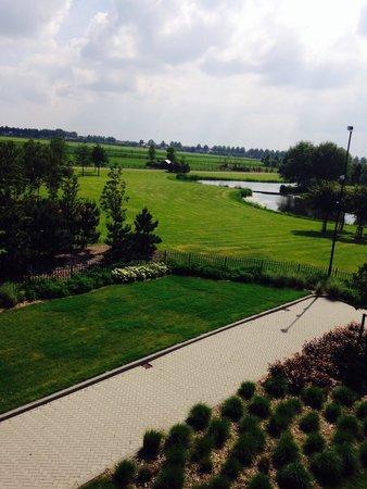 Van der Valk Hotel Schiphol : Vue de la fenêtre de notre chambre