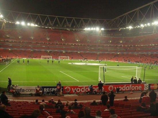 Emirates Stadium: inside the statium for a championleague match
