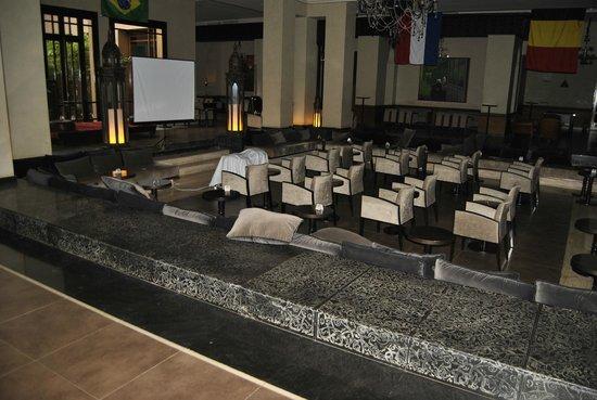 ClubHotel Riu Tikida Palmeraie : ground floor wathcing fifa world cup 2014