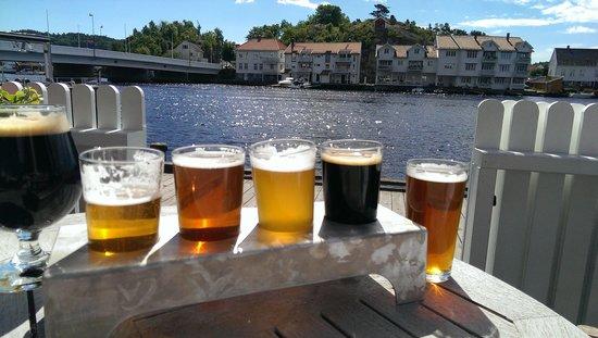 Provianten Brewery tasting tray
