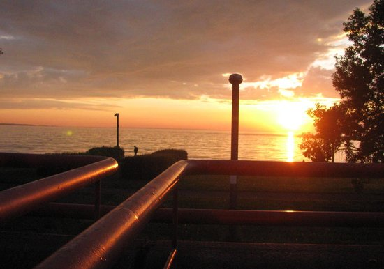 Pirita Spa Hotel : the sea and sun going down