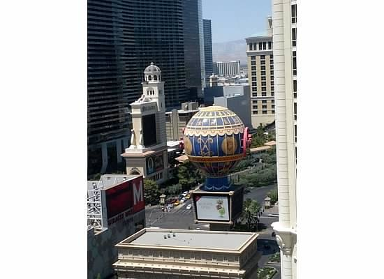 Paris Las Vegas: view from our room on 22 floor