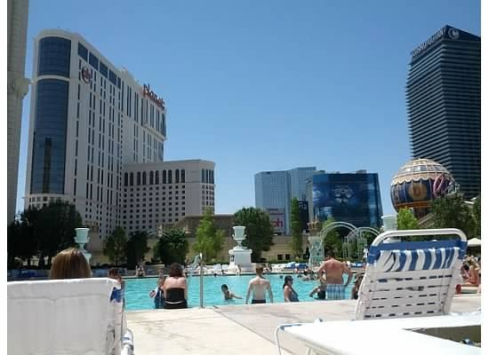 Paris Las Vegas: view from my seat at the pool
