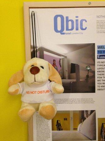 Qbic Hotel London City: Do not disturb ;-)