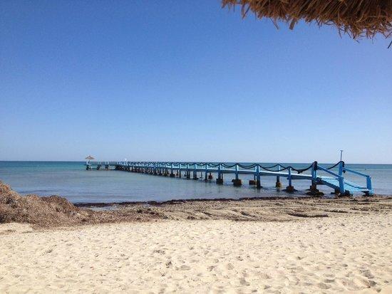 Odyssee Resort & Thalasso : Le ponton de plage 1