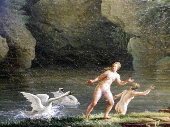 Palais Longchamp: Jean HenryArles 1734-Marsiglia 1784) Leda e il cigno
