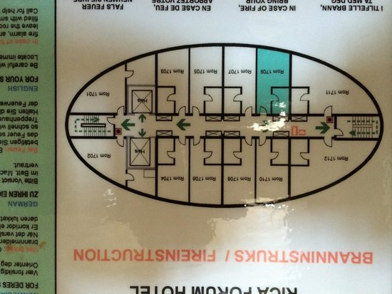 Scandic Forum: floor layout