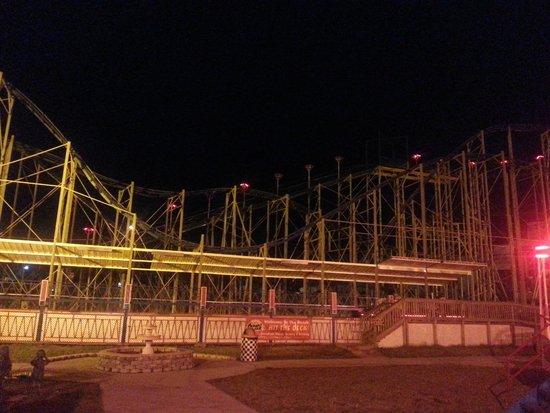 Boardwalk Amusement Area and Pier : Roller Coaster