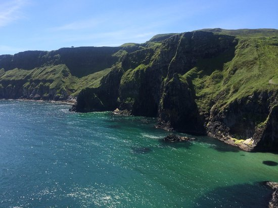 Carrick-A-Rede Rope Bridge: View from island