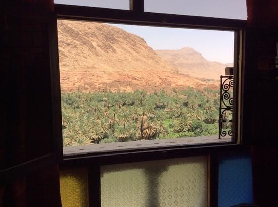 Maison d'Hote Panorama Todra Tinehir: Vue de notre chambre