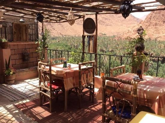 Maison d'Hote Panorama Todra Tinehir: La terrase