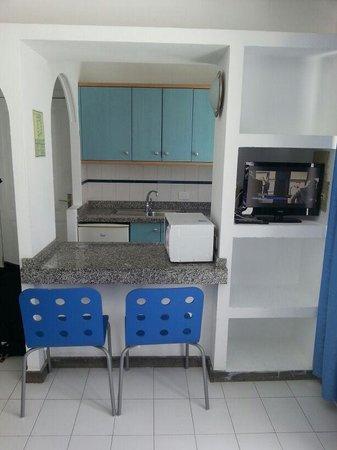 Plaza Azul: cuisine depuis le salon