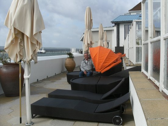 The Haven Hotel: The terrasse overlooking the sea