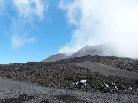 Mount Etna: Etna  is smoking