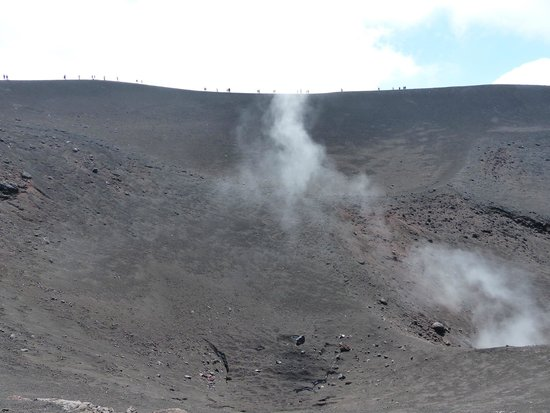 Monte Etna: One of its craters