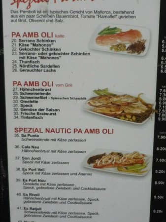 cafe nautic the pa amb oli menu