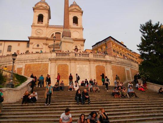 Spanische Treppe (Piazza di Spagna): Vista de la escalinata de la Plaza España