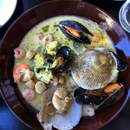 AALTO Bistro: Fish pan with assorted seafood, fresh herbs and white whine sauce