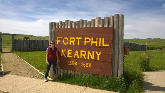 Fort Phil Kearny State Historic Site: Main sign