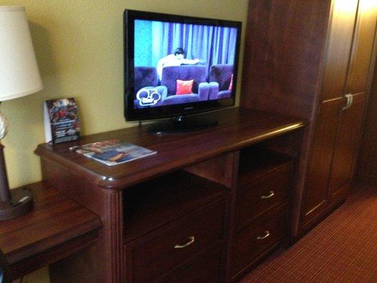 Rosen Inn International: Nice TV and storage area