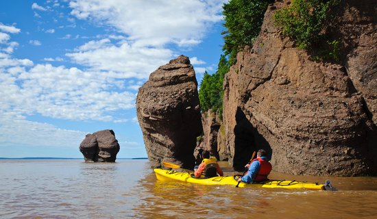 Baymount Outdoor Adventures: Hopewell Rocks at high tide