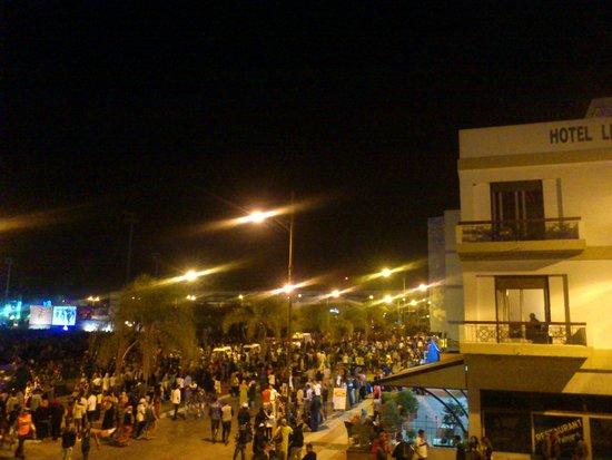 Residence Tislit : festival depuis le balcon
