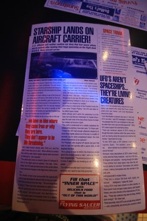 Flying Saucer Drive-In: Front of Menu - News