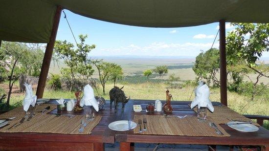 Kilima Camp: Ausblick vom Restaurant in die Masai Mara