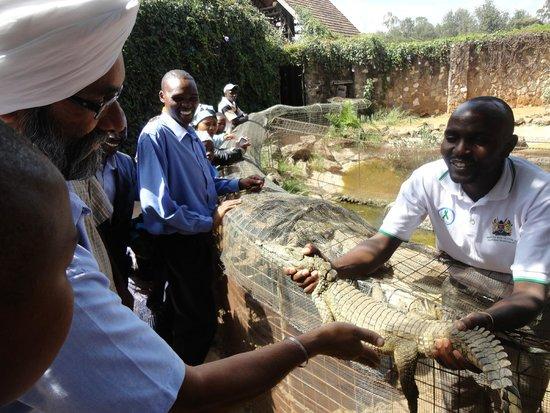 Nairobi Mamba Village: the friendly & helpful keeper