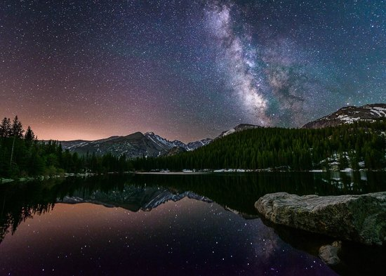 Images of Rocky Mountain National Park: Stars Over Bear Lake