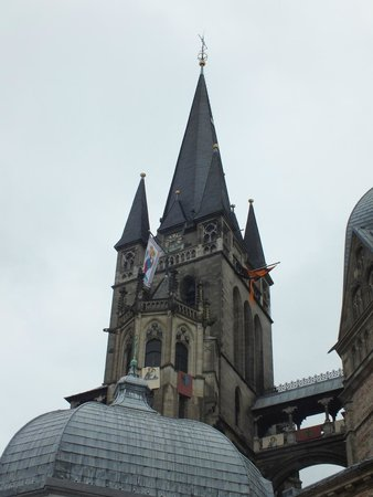 Aachen Cathedral (Dom): Spitze des Dom in Aachen
