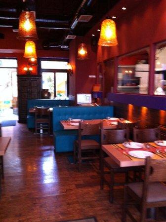 Indian Masala : Interior of restaurant