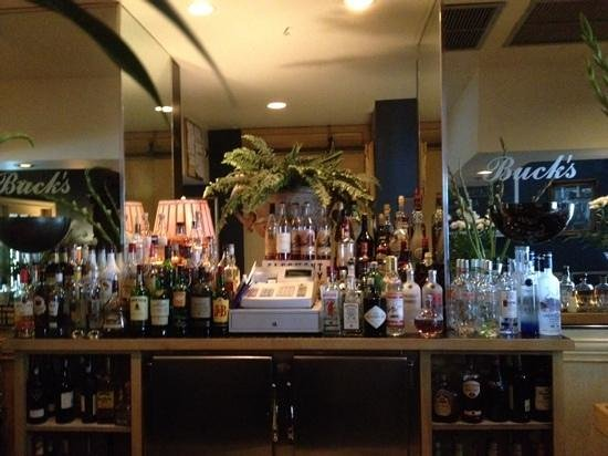 Buck's Restaurant & Bar: just a few of the many bourbons