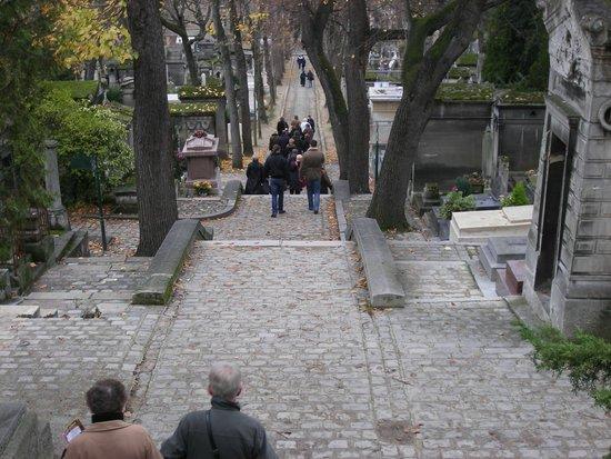 Friedhof Père-Lachaise (Cimetière du Père-Lachaise): Лестница