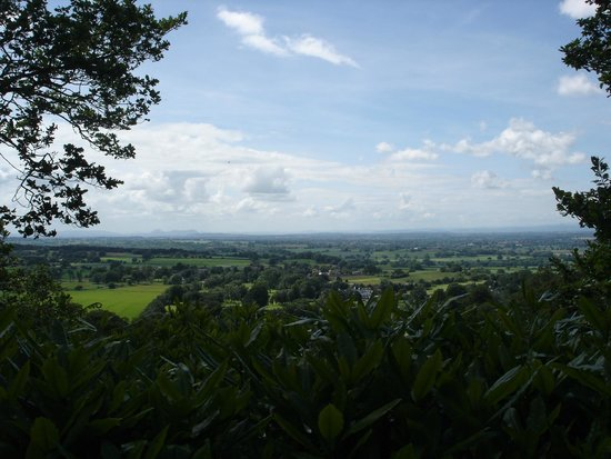 Hawkstone Park Follies: The view from the top of the monument