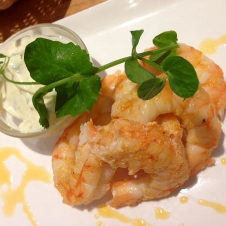 The Seafood Bar: King prawns with garlic and butter