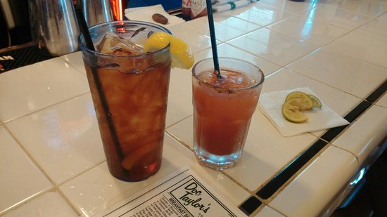 DOC Taylor's Restaurant: Eye openers at the bar