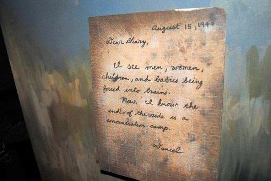 United States Holocaust Memorial Museum : Ecrit de Daniel