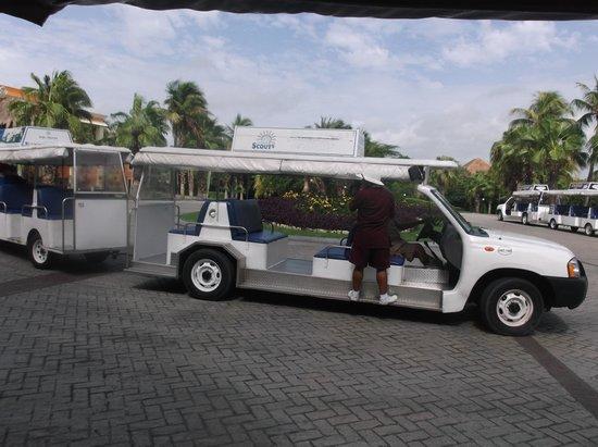 Luxury Bahia Principe Akumal Don Pablo Collection: One of the buses!