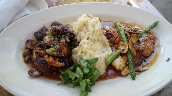 The Cheesecake Factory: Chicken Madeira and Steak Diane