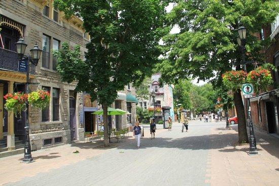 Westmount : Rue piétonne du quartier