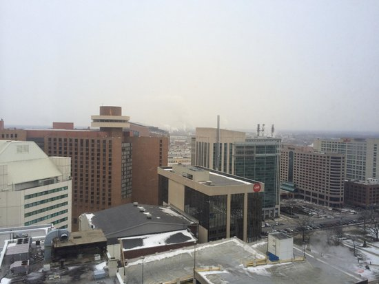 Hilton Indianapolis: View in January